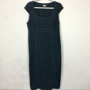 Athleta black dress sleeveless 14T